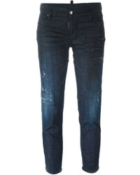 Dsquared2 Skinny Medium Waist Cropped Jeans