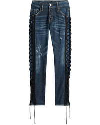 Dsquared2 Skinny Jeans With Lace Up Detail