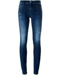 Twin-Set Heart Shape Pocket Skinny Jeans
