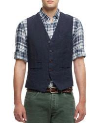 Brunello cucinelli five button cotton waistcoat medium 98798