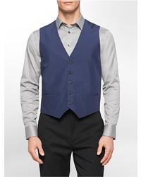 Calvin Klein Classic Fit Cotton Blend Suit Vest