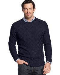 Geoffrey Beene Basketweave Crew Neck Sweater