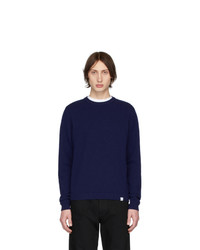Norse Projects Blue Wool Sigfred Sweater