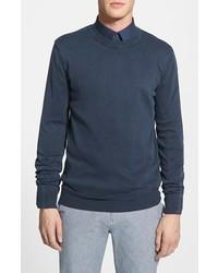 Boss Orange Kladio Stonewashed Crewneck Sweater Navy X Large