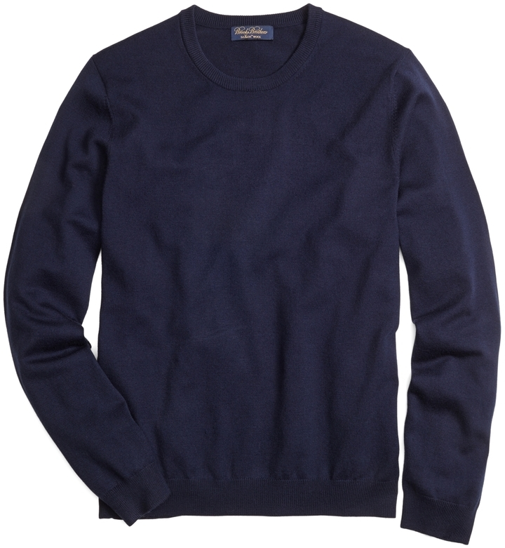 Brooks Brothers Saxxon Wool Crewneck Sweater | Where to buy & how ...
