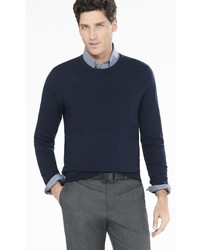 Express Cotton Cashmere Crew Neck Sweater