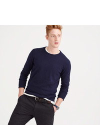 Mens Navy Crew Neck Sweaters From Jcrew Mens Fashion