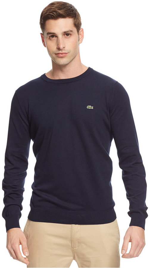 Lacoste Cotton Crew Neck Sweater | Where to buy & how to wear