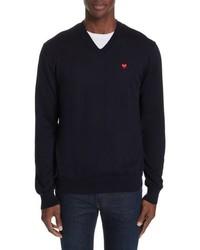 Comme Des Garcons Play Cotton Logo Sweater