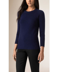 Women's Navy Crew-neck Sweaters by Burberry | Women's Fashion