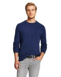 Merona Crew Neck Donegal Sweater Oxford Blue Tm