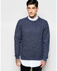 ONLY & SONS Crew Neck Sweater In Mixed Yarns