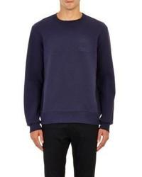 Acne Studios Embossed Fleece Sweatshirt Blue
