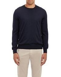 Barneys New York Fine Gauge Knit Sweater Blue
