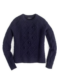 J.Crew Hawthorne Cable Pom Pom Sweater