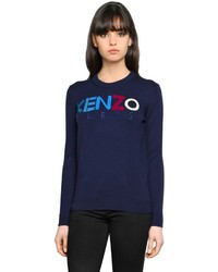 Logo intarsia wool knit sweater medium 4418075
