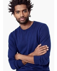 Mango Man Cotton Cashmere Blend Sweater