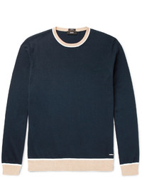 Hugo Boss Marcelli Slim Fit Contrast Trimmed Cotton Sweater