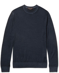 Michael Kors Michl Kors Slim Fit Washed Merino Wool Sweater