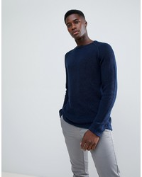 troy Mixed Yarn Textured Knitted Jumper