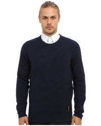 Ben Sherman Mouline Crew Neck Sweater Me10741