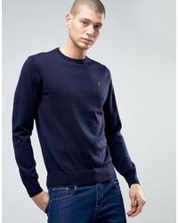 Farah Mullen Merino Wool Crew Neck Sweater