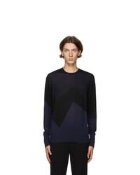 Neil Barrett Navy And Black Modernist Sweater