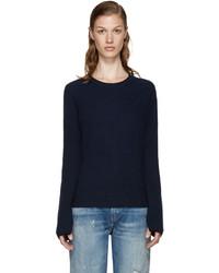 Rag & Bone Navy Cashmere Lilianna Sweater