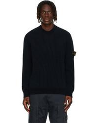 Stone Island Navy Chenille Sweater