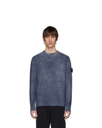 Stone Island Navy Hand Dyed Knit Sweater
