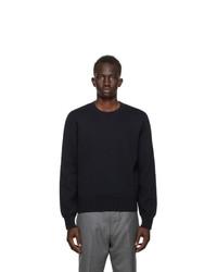 Thom Browne Navy Intarsia Sweater