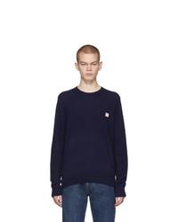 Acne Studios Navy Kalon Face Sweater