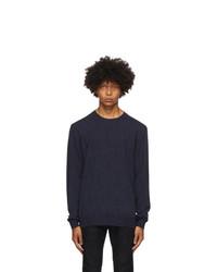 Etro Navy Knit Crewneck Sweater