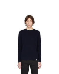 Norse Projects Navy Lambswool Sigfred Sweater