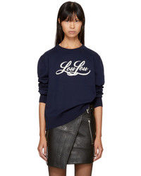 Saint Laurent Navy Lou Lou Sweater