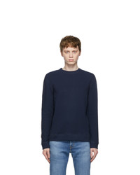 Naked and Famous Denim Navy Slim Crew Vintage Doubleface Sweater