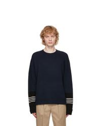 Neil Barrett Navy Travel Techno Sweater
