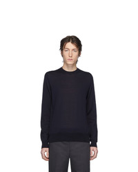 Comme des Garcons Homme Deux Navy Worsted Wool Sweater