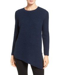 Nordstrom Collection Cashmere Asymmetrical Hem Sweater