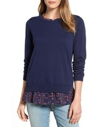 Petite layered look sweater medium 4913473