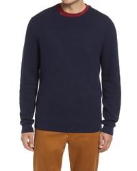 Nordstrom Popcorn Stitch Cotton Blend Crewneck Sweater