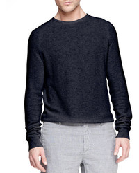Rag and Bone Rag Bone Steven Textured Raglan Sweater Navy