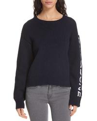 Rag & Bone Rayland Branded Shaker Crewneck Sweater