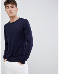 Esprit Recycled Cotton Lightweight Jumper In Navy