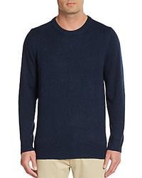 Saks Fifth Avenue Regular Fit Donegal Crewneck Sweater