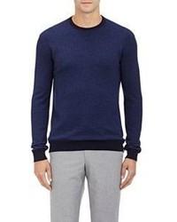 Zanone Reversible Crewneck Sweater Blue