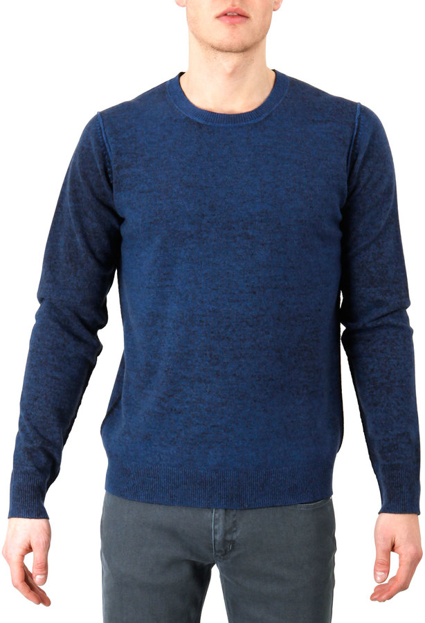 Acne Studios Reversible Wool Sweater Blue Navy | Where to buy ...