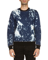 DSQUARED2 Side Zip Bleached Denim Sweatshirt