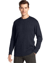 Oscar de la Renta Sweater Crew Neck Cotton Cable Sweater