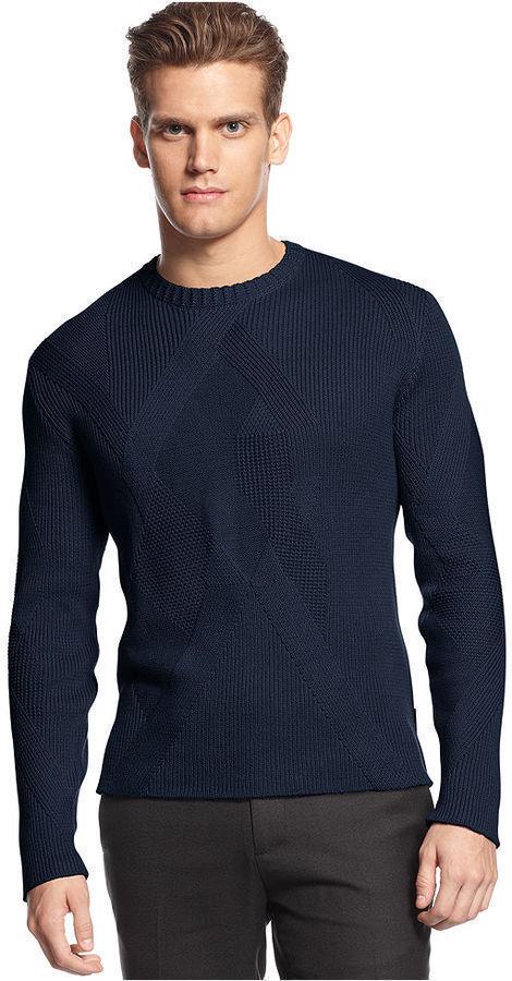 Calvin Klein Sweater Crew Neck Textured Sweater   Where to buy ...